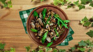 Salada de Cogumelos Low Carb